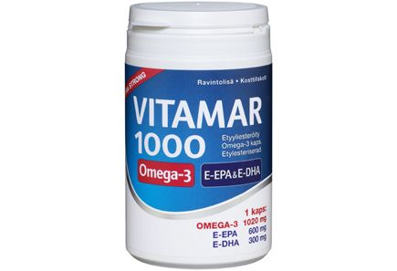 Vitamar 1000 100 kaps etyyliesteröity Omega-3-kapseli - Prisma verkkokauppa