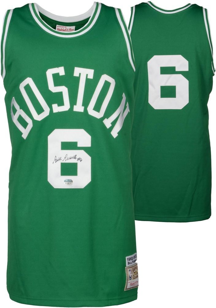 e2e16876830 Bill Russell Celtics Signed Green Mitchell and Ness Jersey - Fanatics