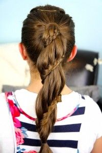 Winding Lace Braid Ponytail | Cute Hairstyles and more Hairstyles from CuteGirlsHairstyles.com
