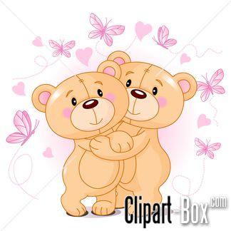 CLIPART BEARS COUPLE