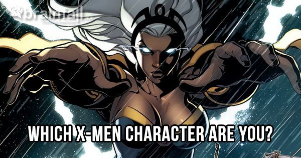 I Am Storm Which X Men Character Are You Man Character X Men Character