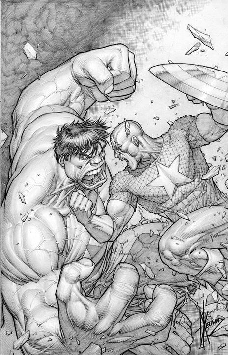 Hulk vs. Captain America by Dale Keown