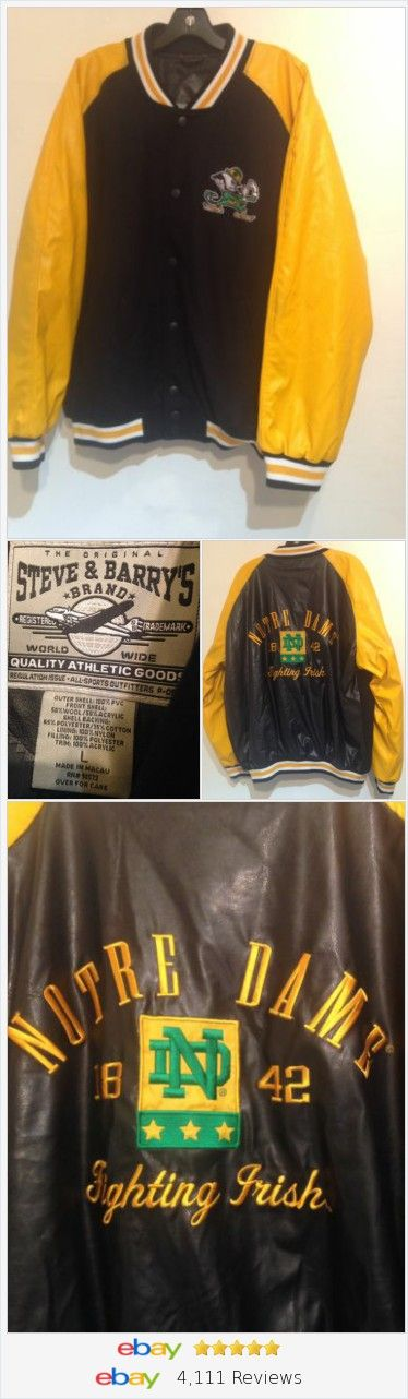 Notre Dame Fighting Irish NCAA Steve & Barry's Jacket Size L  | eBay #notredame #fightingirish #football #college