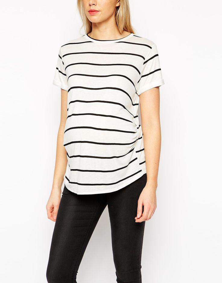 Image 3 ofASOS Maternity Breton Stripe T-Shirt