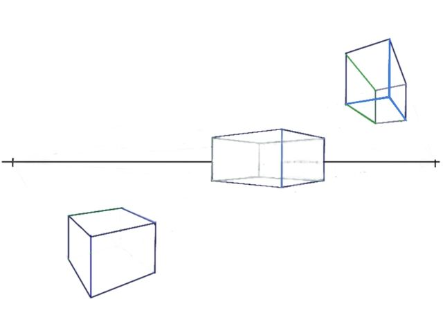 how to draw a pyramid in 2 point perspective