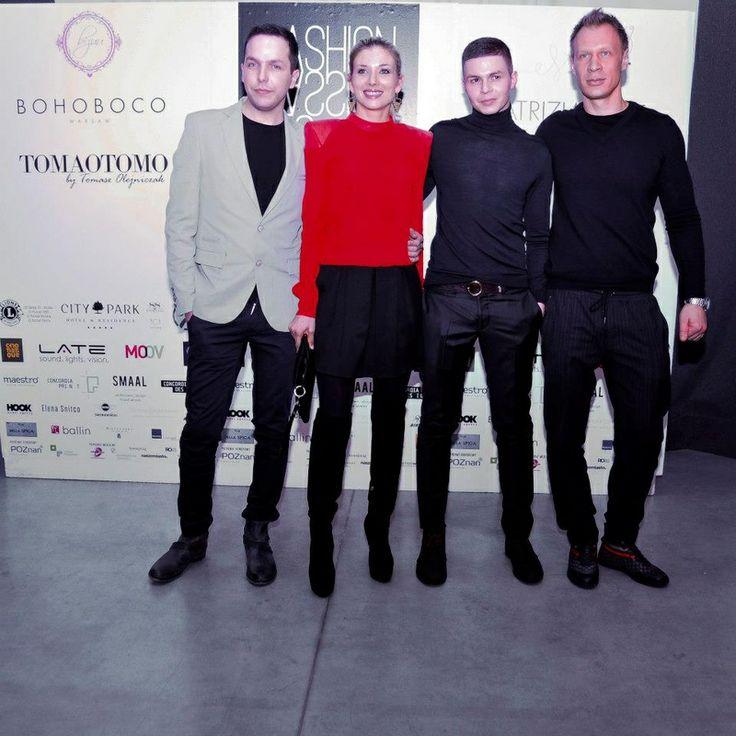 Izabella Łukomska z mężem i duetem Hector & Karger