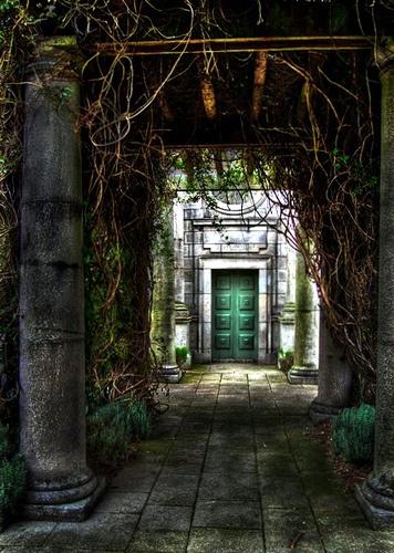 Entrance to one of the four book rooms at the Irish National War Memorial Gardens, Islandbridge, Dublin.