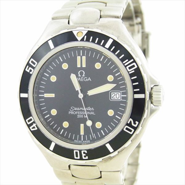 【OMEGA】オメガメンズ腕時計シーマスタープロフェッショナル200mスイス製ブラック文字盤クォーツ(電池式)【中古】