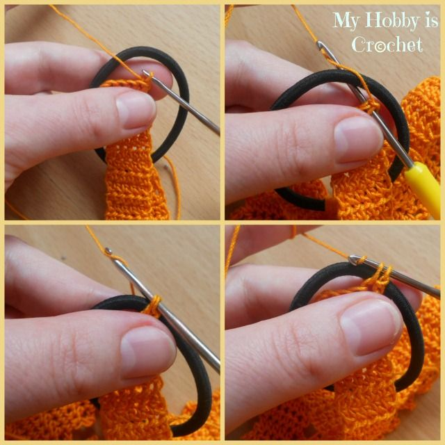 Crochet head band with flower, having an elastic at the back for a perfect fit - Free pattern with tutorial