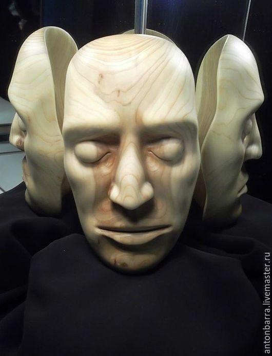 Интерьерные  маски ручной работы. Ярмарка Мастеров - ручная работа. Купить Деревянная интерьерная маска. Настенный декор. Лицо из дерева. Handmade.