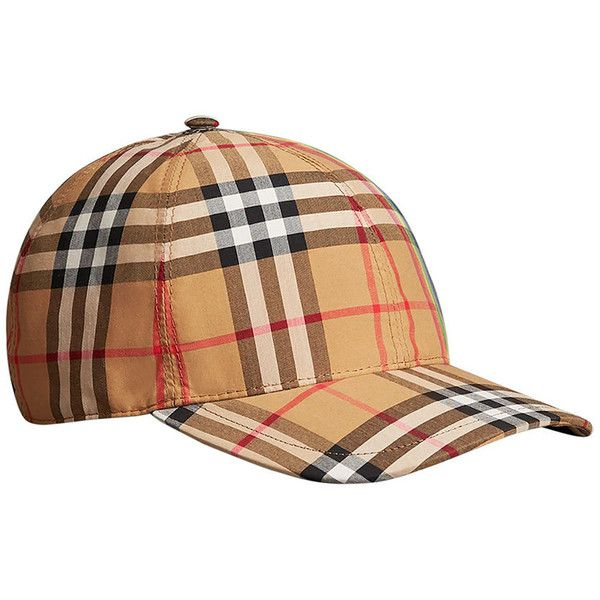 Burberry Rainbow Vintage Check Baseball Cap ( 344) ❤ liked on Polyvore  featuring accessories f447fce6c4b