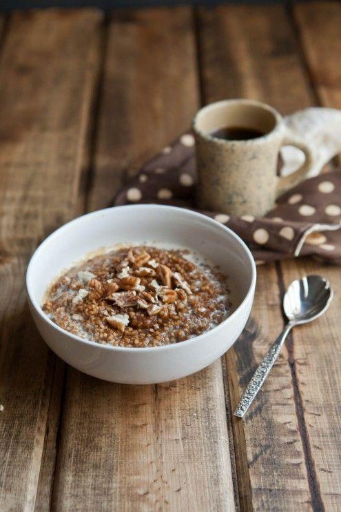 Naturally Ella | Pumpkin Pie Millet Porridge | Naturally Ella: Toast Pecans, Food Recipes, Naturally It, Pumpkin Porridge, Pumpkins, Pumpkin Pies Millet Porridge, Maple Syrup, Breakfast Bowls, Breakfast Recipes