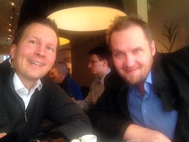 Here with Lasse Rouhiainen, a long time friend and colleague who lives in Spain