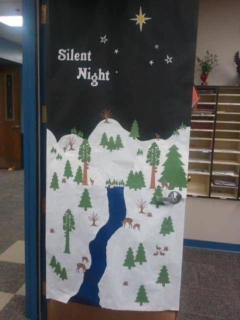 Quot Silent Night Quot Winter Door Display Cutout Maker 1800