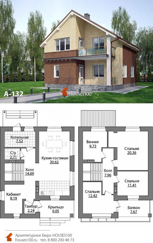 Двухэтажный дом проект план фото мансардного типа бараке, где