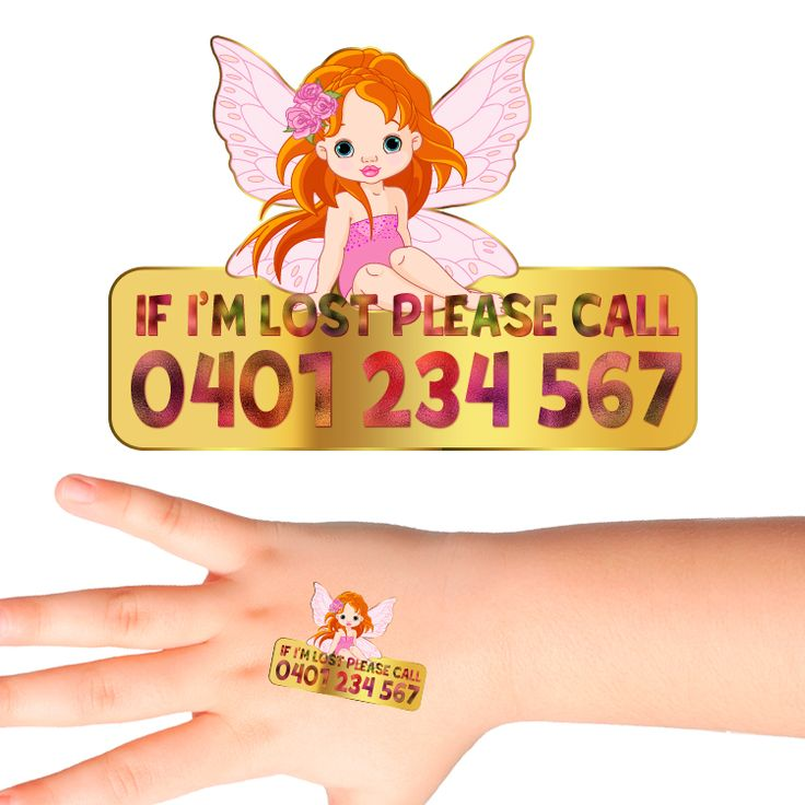 Fairy Personalised Safety Tattoos #521 (32 pack)