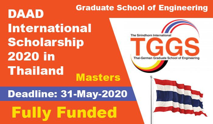 Daad International Scholarship 2020 In Thailand Fully Funded In