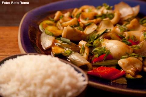Nam Thai - Frango Birmânia   (Curry THailandês e Indiano)(médio picante) (almoço)