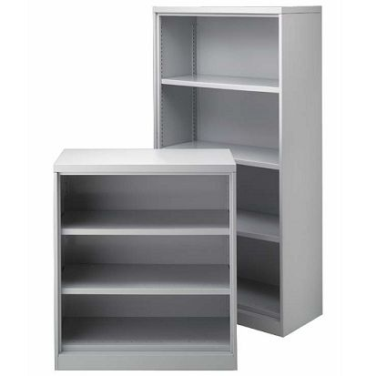 Namco Open Shelving Cabinet The Steel Bookcase Is An Attractive Contemporary Office