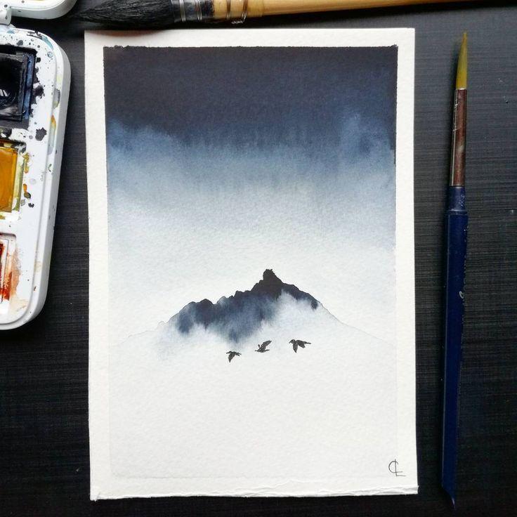 """Gefällt 729 Mal, 33 Kommentare – Camille (@f_ancy_pants) auf Instagram: """"Misty Mountain inspiriert von @benjaminhardman wunderschöne Island-Bilder Ich liebe dieses wirklich! Farbe…"""""""