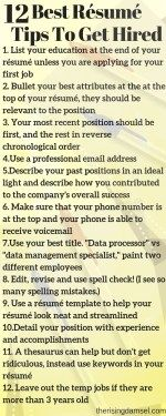 12 best resume tips to get you hired fast! Five se…