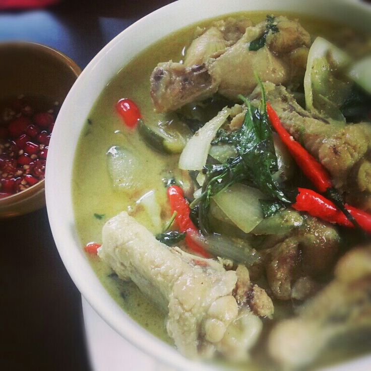 Chicken green curry #cookedbyme