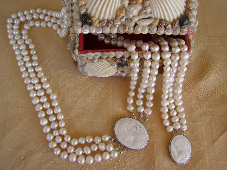 !!SALE!!Cameo ivory color fresh water pearls jewelry set, fresh water pearls set #Handmade