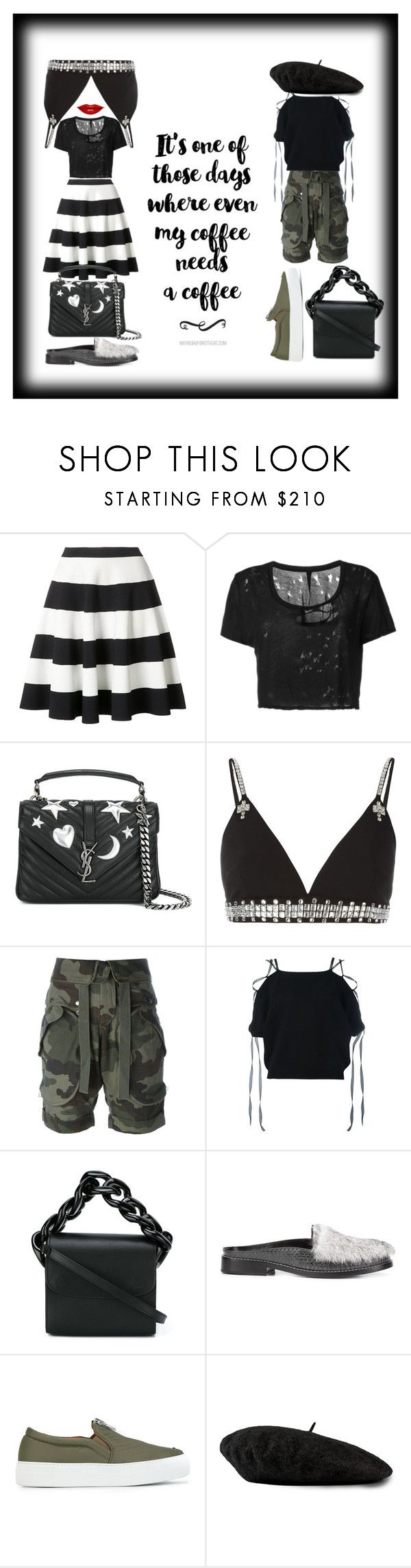 """black mamba¶"" by racheal-taylor ❤ liked on Polyvore featuring Akris Punto, Unravel, Yves Saint Laurent, Givenchy, Faith Connexion, Valentino, Marques'Almeida, Opening Ceremony, Joshua's and Gucci"