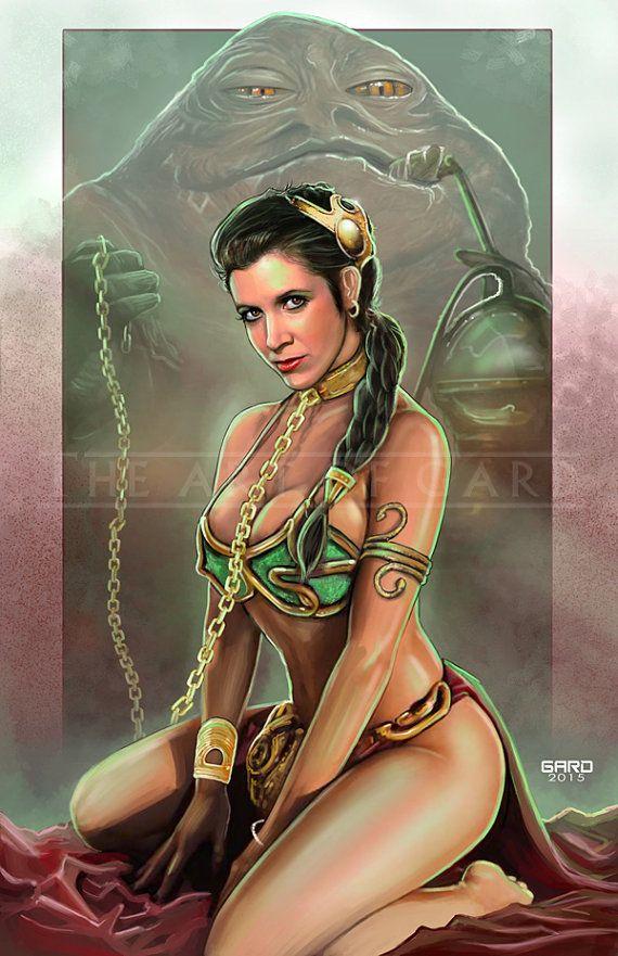 Princess Leia Slave 11X17 Artist's Print