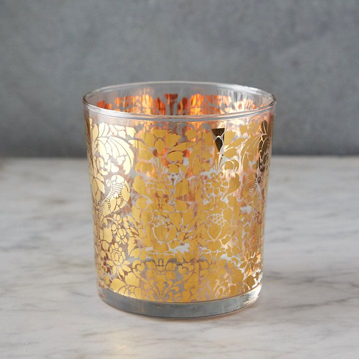 Golden Tapestry Old Fashioned Glass