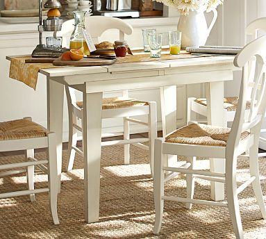 Eastlake extending kitchen table potterybarn this one for Kitchen table only