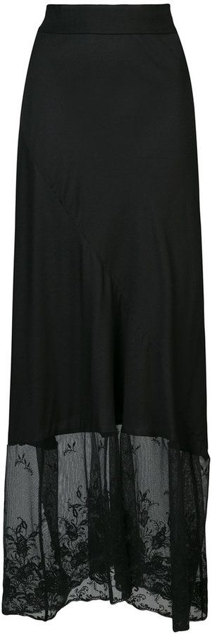 Ann Demeulemeester lace embellished skirt