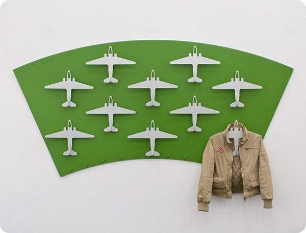 Laser Cut Gift #coathanger #airplane