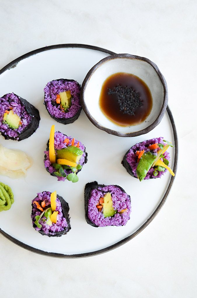 Rainbow Paleo Vegan Sushi on LaurenConrad.com