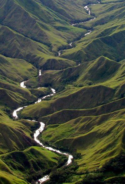 Rolling hills - Menya River, Papua New Guinea