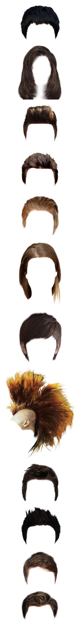 """""""ART // Hair 🚹"""" by beneath-the-mystic-moon ❤ liked on Polyvore featuring hair, wigs, boy hair, dolls, heads, steampunk, doll hair, men, beauty products and haircare"""