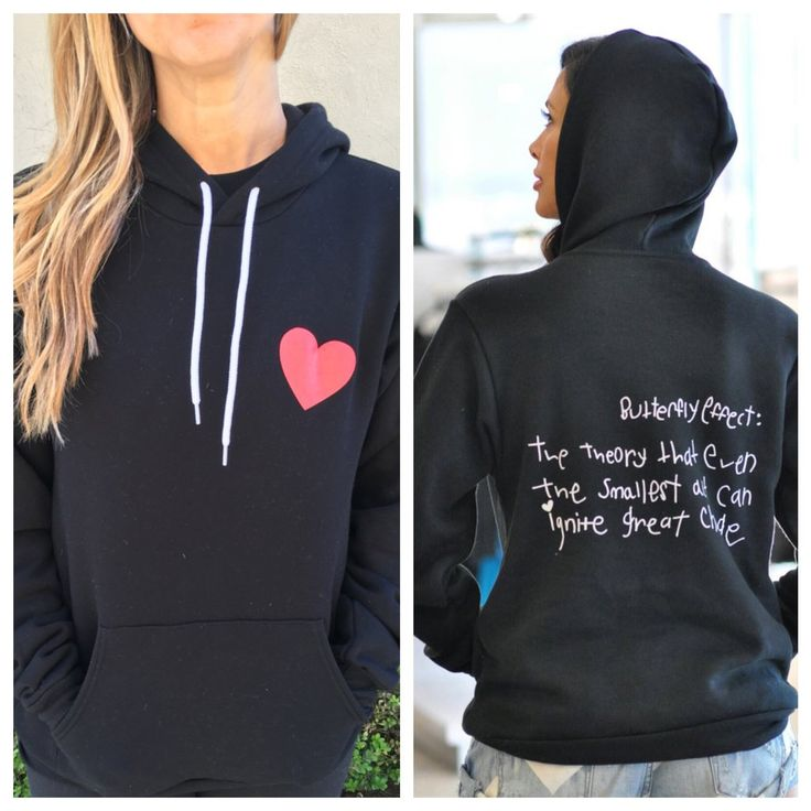 CHLA: Butterfly Effect - Heart Pullover Hoodie (Olivia Munn)