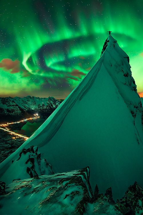 Green aurora, Svolvaer, Norway