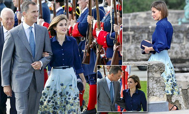 Queen Letizia attends Florida event in Carolina Herrera ensemble