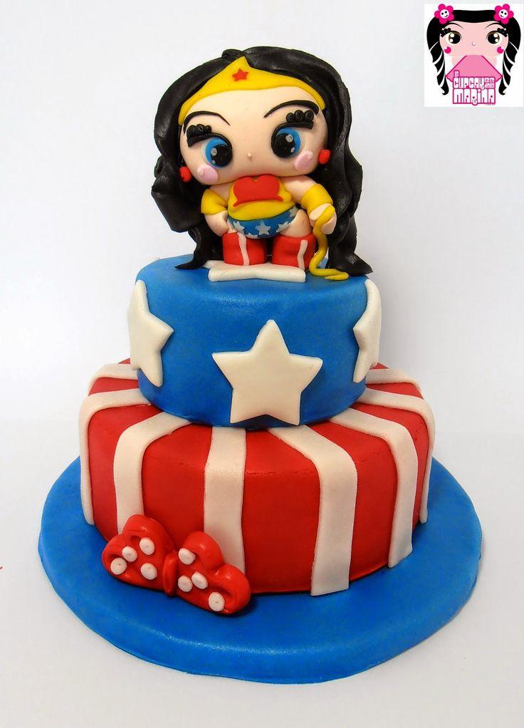 Le Cupcakes della Marina: Torta Wonder Woman cake https://www.facebook.com/lecupcakesdellamarina