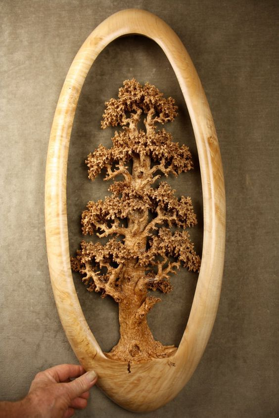 Expensive best of etsy carved wood Oak Tree wood carving wall art ...