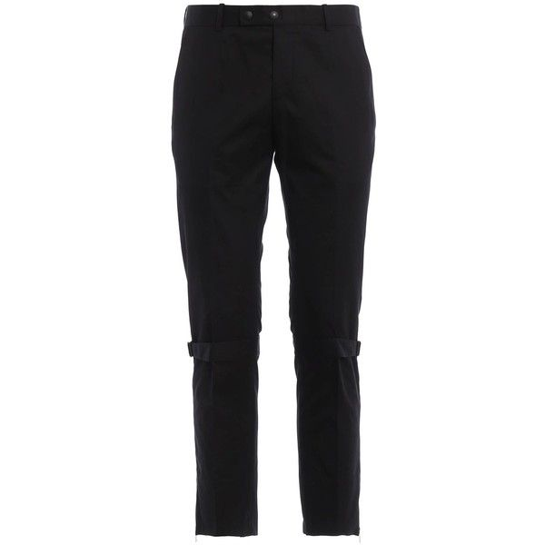 Alexander Mcqueen Strap Dtl Trousers ($330) ❤ liked on Polyvore featuring men's fashion, men's clothing, men's pants, men's casual pants, black and mens lined pants