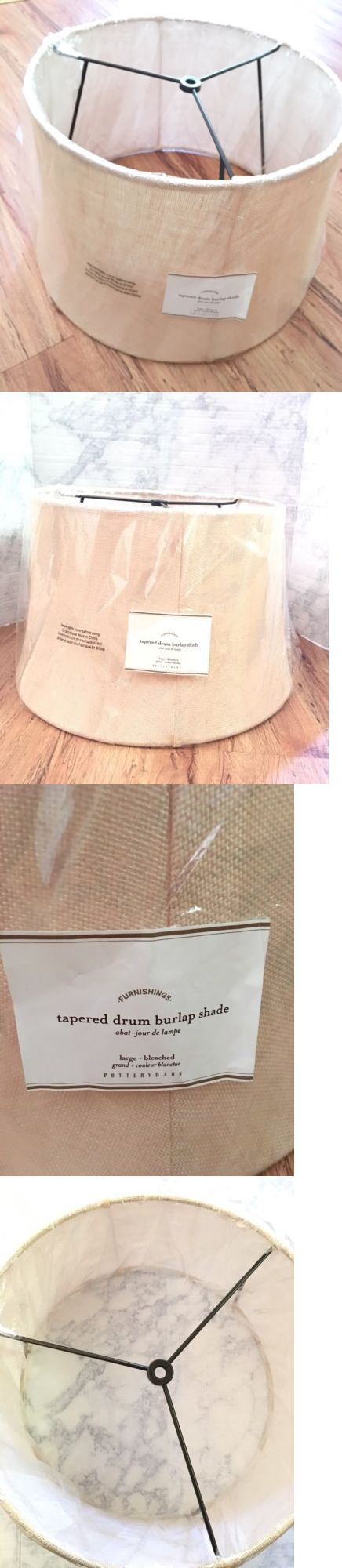 Lamp Shades 20708: Nwt Pottery Barn Tapered Drum Lamp Shade Bleached Burlap Drum Lamp Shade Large -> BUY IT NOW ONLY: $39.95 on eBay!