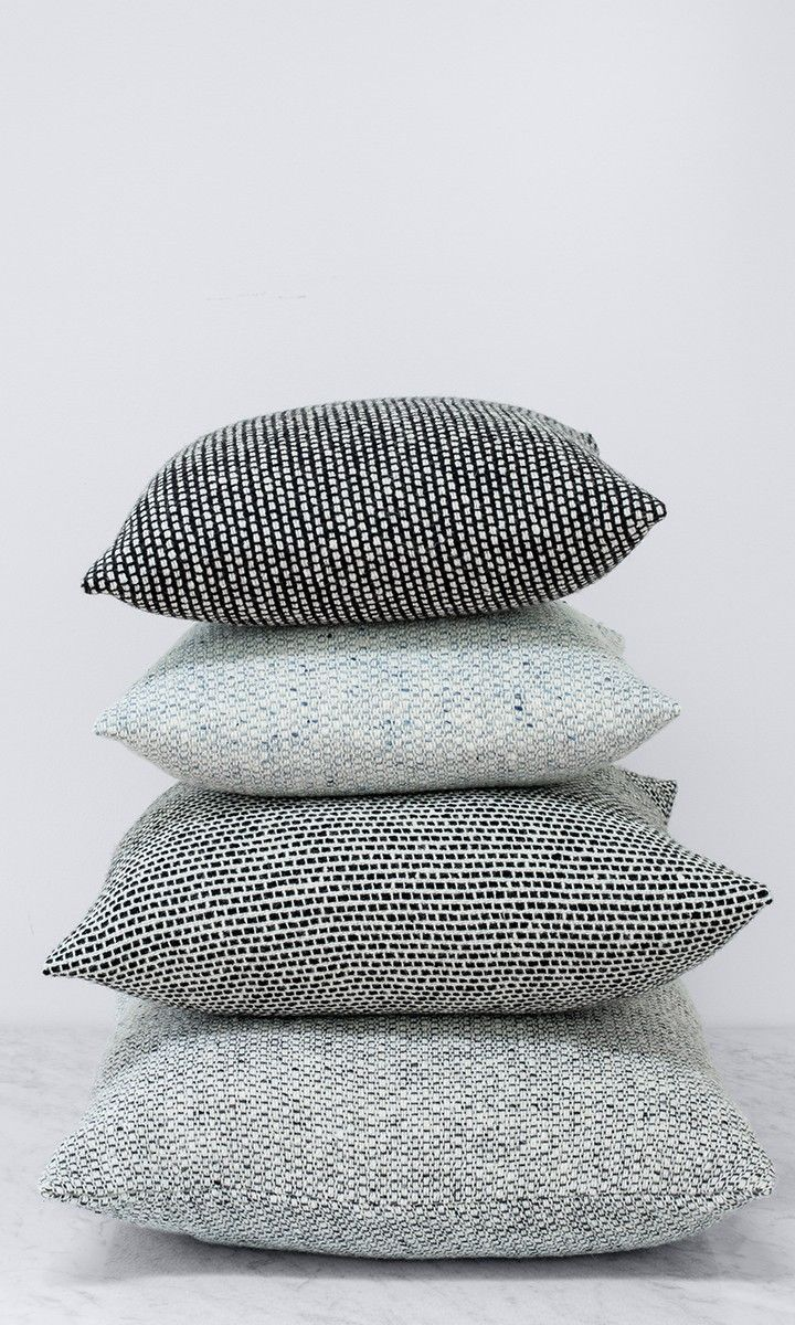 These new black and white tweed pillows from The Citizenry are exactly the…