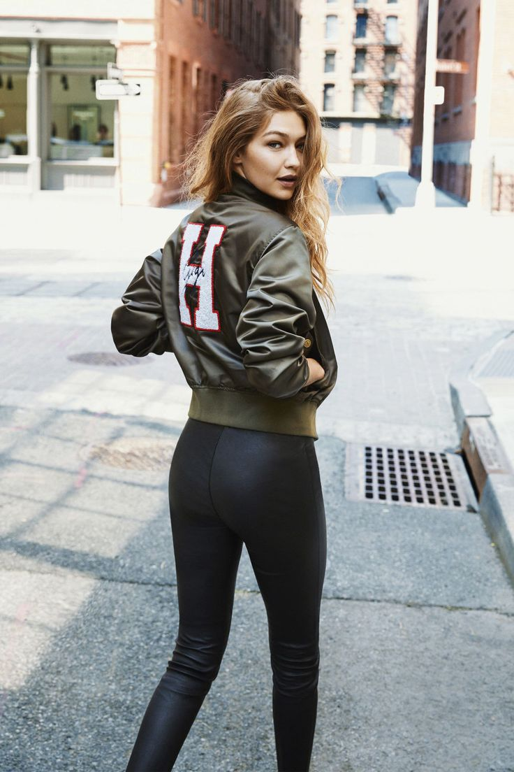 Model #style: One of Gigi Hadid's first editorials in her own #fashion creations