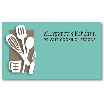 kitchen cooking utensils chef culinary biz cards business card template