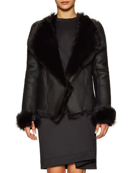 Balenciaga Leather Fur Jacket