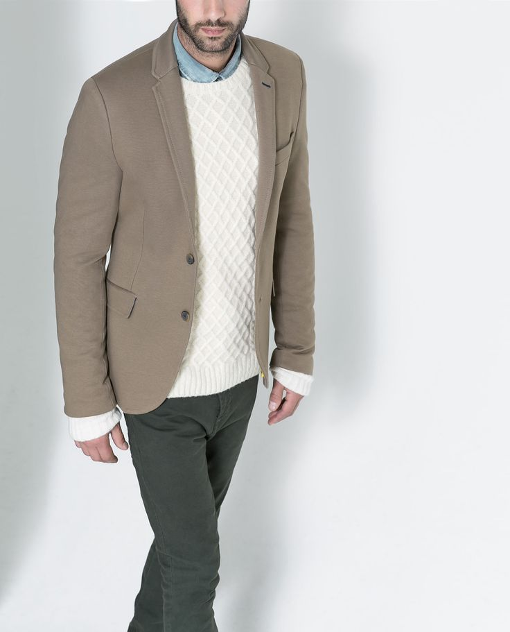 BLAZER WITH PIPED POCKET