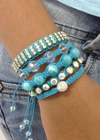 Kit Shambalas azul turquesa