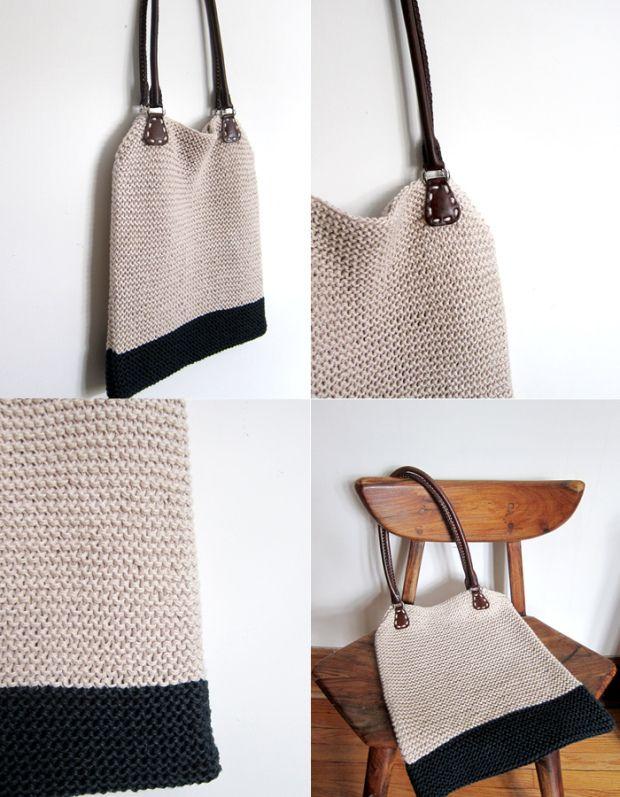 Mejores 15 imágenes de Knit - Bags and purses en Pinterest   Bolsos ...